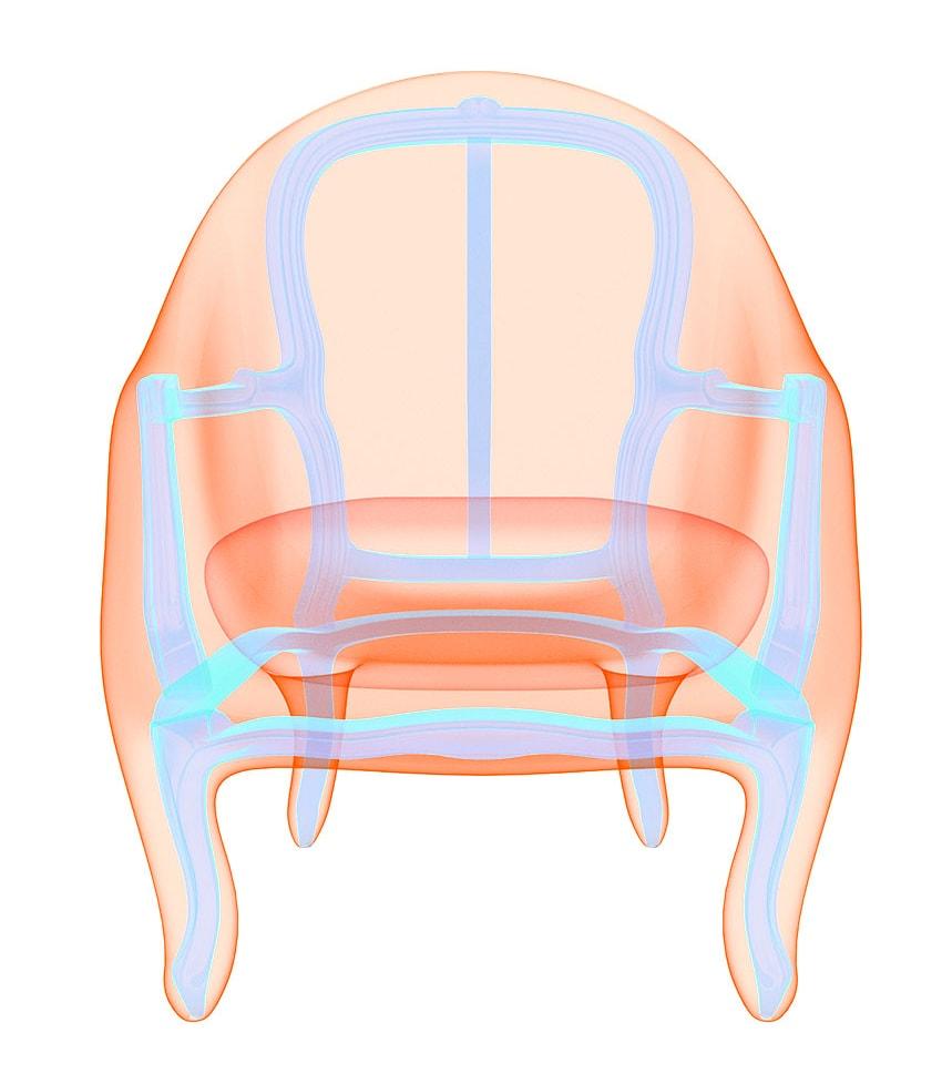 Rendu fauteuil bergère Louis XV