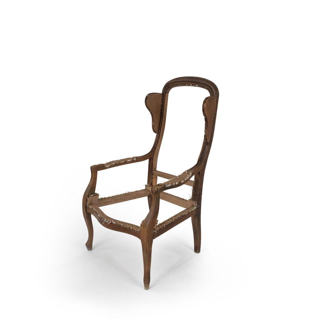Structure fauteuil Voltaire à oreilles