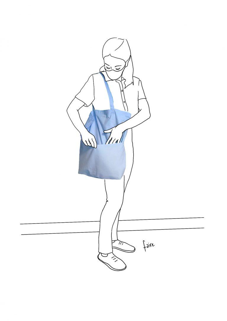 Pragmatique Collection d'objets de précautions sanitaires - Tote Bag