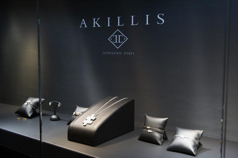 Vitrine boutique Akillis Genève Paris
