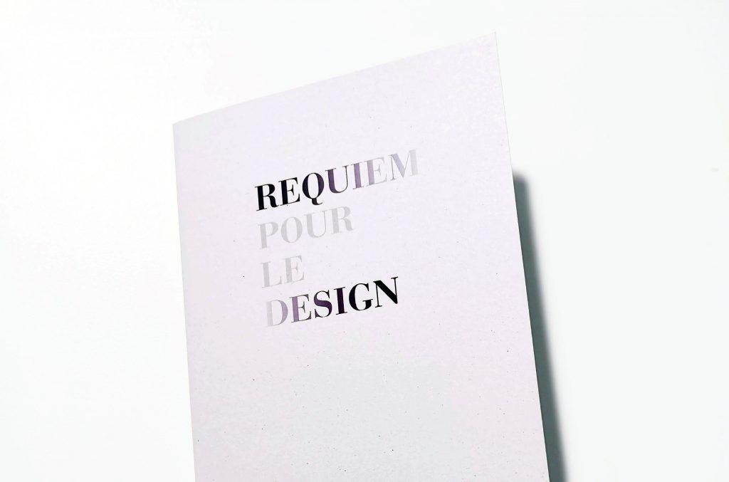 Couverture Requiem pour le design