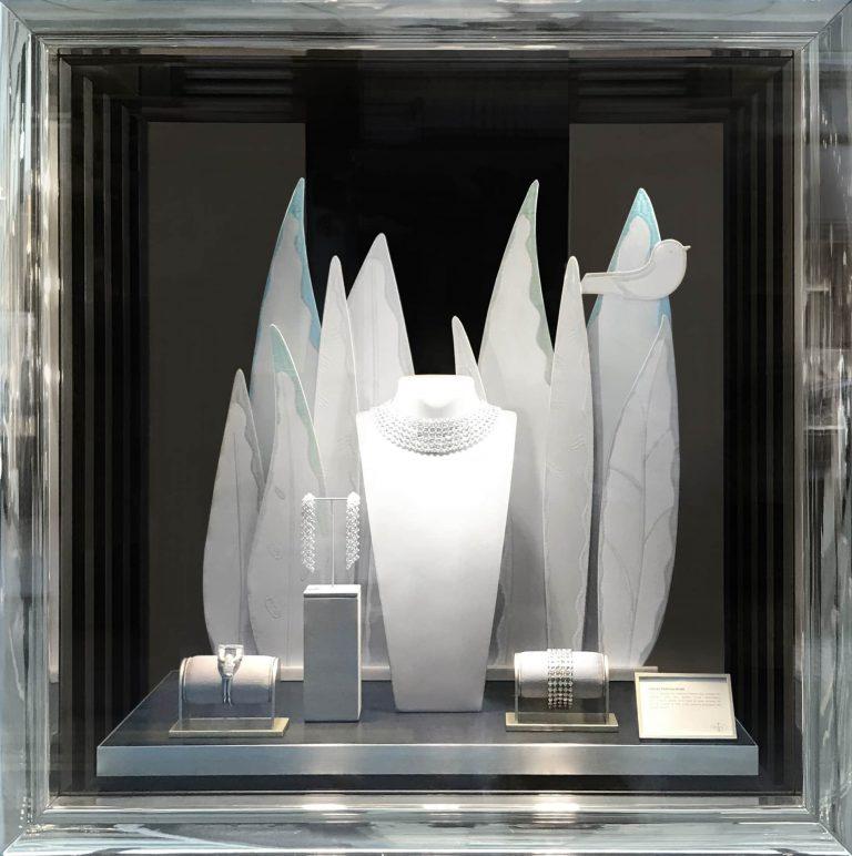Van Cleef & Arpels Vitrines - Feuillage hiver cuir