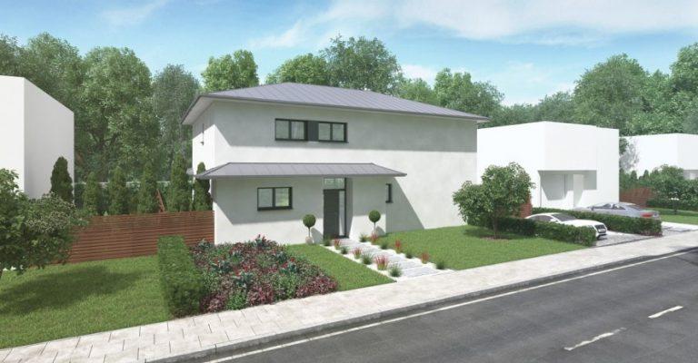 Vue 3D maison bioclimatique particulière